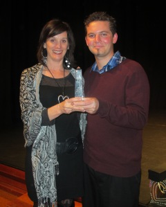 Kyron and Maree Tassel (Founder of iFindProperty) at the award ceremony.